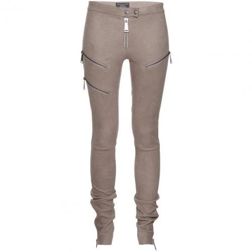 Philipp Plein Leather Legging Rider
