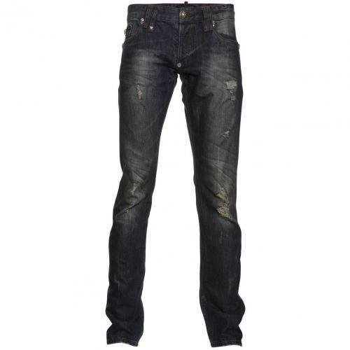 Philipp Plein Straight Cut Illegal Blue Blood