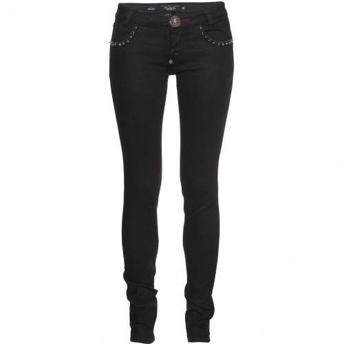 Philipp Plein Super Slim Fit Beast Black Caviar