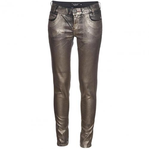 Philipp Plein Super Slim Fit Starlight Gold