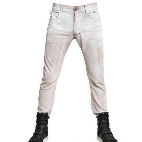 Pierre Balmain - 17Cm Gewachste Denim Skinny Fit Jeans
