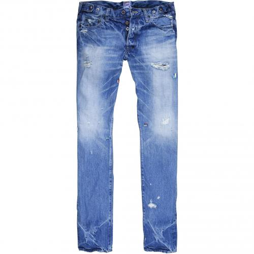 Prps Herren Jeans Stoned Blue Used Style