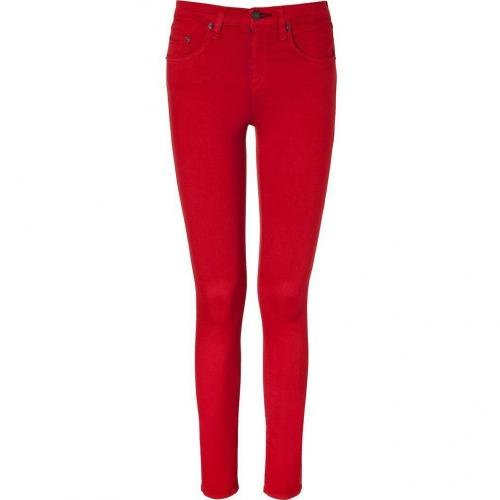 Rag & Bone Poppy Red High Rise Skinny Pants