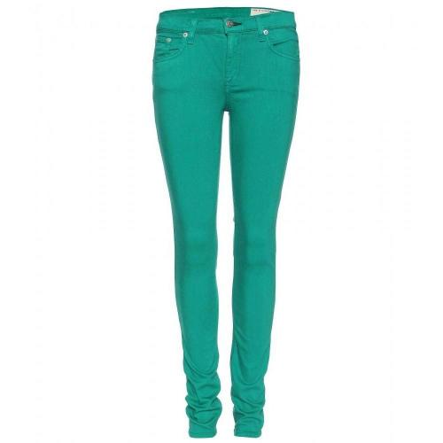 Rag & Bone Skinny Jeans Kelly Green