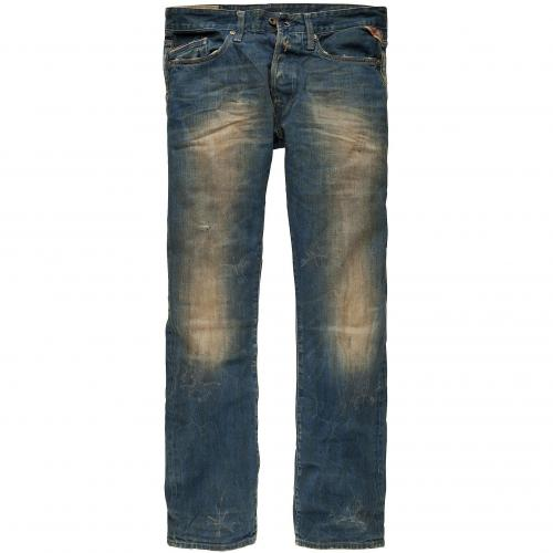 Replay Herren Jeans Waitom Mid Blue Dirt