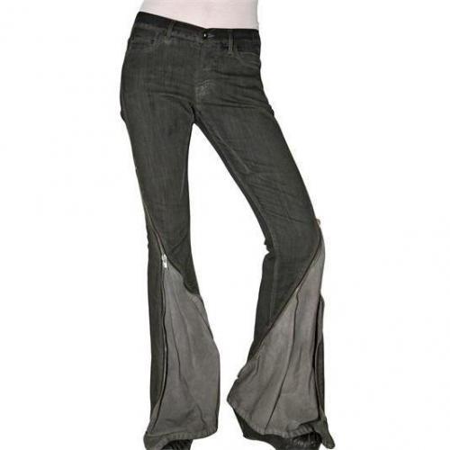Rick Owens - Stretch Denim Jeans Mit Reißverschluss