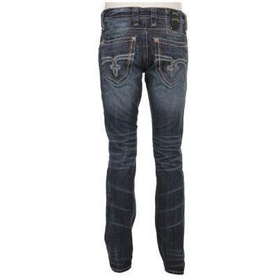 Rock Revival Jeans Denim Blue Washed