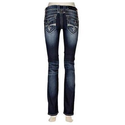 Rock Revival Jeans Mittelblau