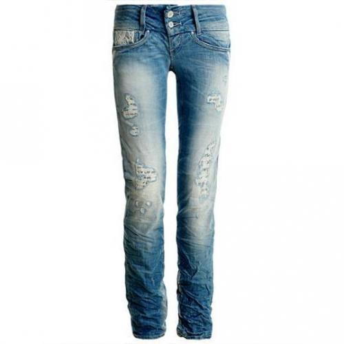 Salsa Jeans - Slim Modell 92111 CLASSY 825 EBCFRQ Farbe Blaue Waschung