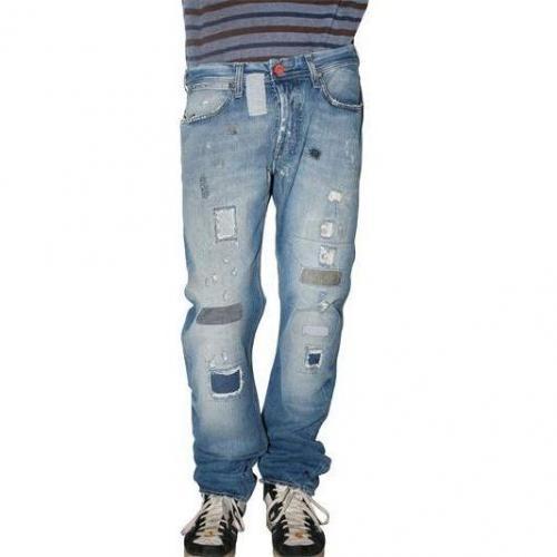 Seal Kay - Destroyed Denim Jeans Mit Flicken