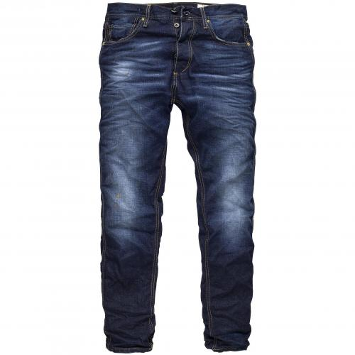 Selected Herren Jeans Five Rico Darkblue Washed