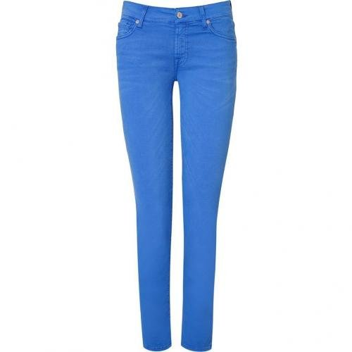 Seven for all Mankind Azure Blue Super Skinny Gwenevere Jeans