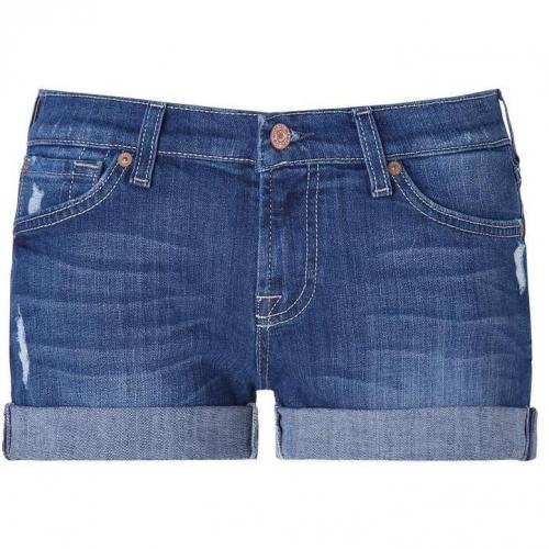 Seven for all Mankind Baywater Blue Destroyed Jeansshorts