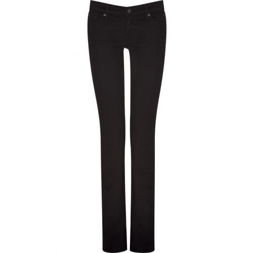 Seven for all Mankind Black Classic Straight Jeans