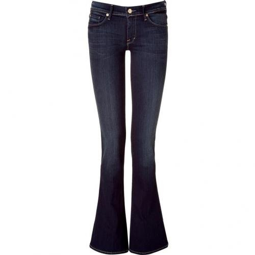 Seven for all Mankind Dark Blue Dazzling Skinny Flared Jeans