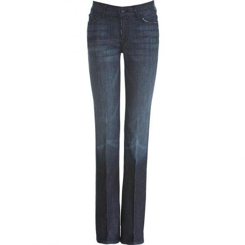 Seven for all Mankind Dark Blue High Waisted Boot Cut Jeans