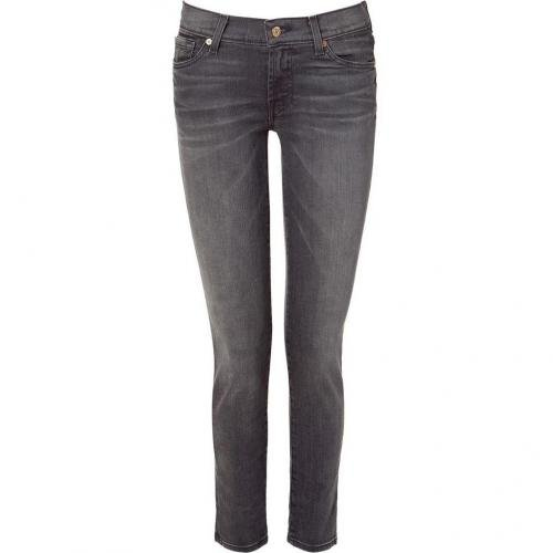 Seven for all Mankind Dark Pebble Grey Skinny Jeans