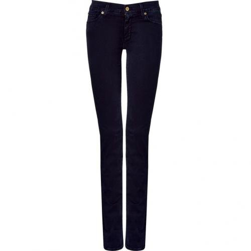 Seven for all Mankind Gum Blue Black Classic Straight Leg Pants