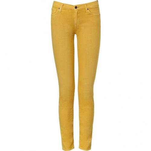 Seven for all Mankind Mustard Second Skin Legging Jean Pant