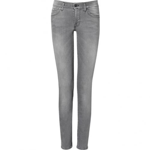 Seven for all Mankind New Toronto Grey Roxanne Classic Skinny Jeans