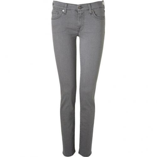Seven for all Mankind Toronto Grey Classic Skinny Pants Roxanne