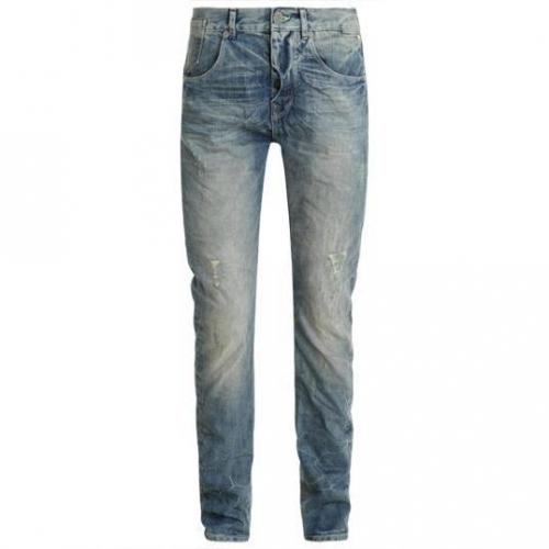 SuperDry - Hüftjeans Foundry Low Farrier Blue Helle Waschung