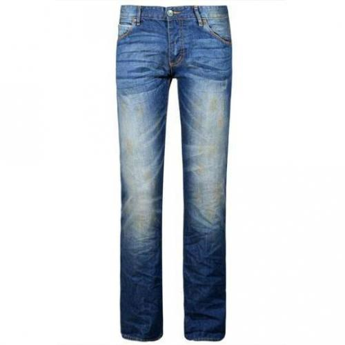 SuperDry - Slim Officer Denim Slim Hotrod Blue Blau