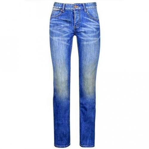SuperDry - Slim Standard Blue Jean-Slim California Blue Blaue Waschung