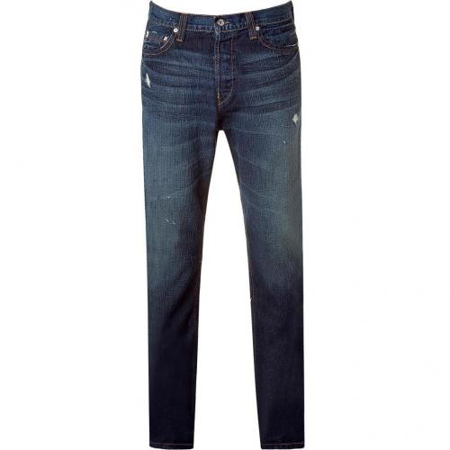 The Great China Wall Dark Ripped 5 PKT Antifit Jeans