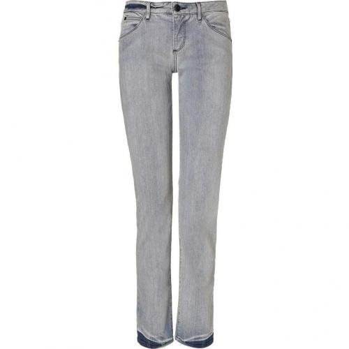 Theyskens Theory Denim Bleached Indigo Jeans