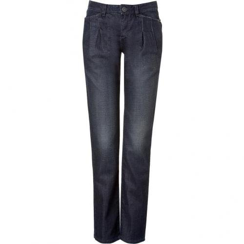 Theyskens Theory Indigo Washed Straight Leg Jeans