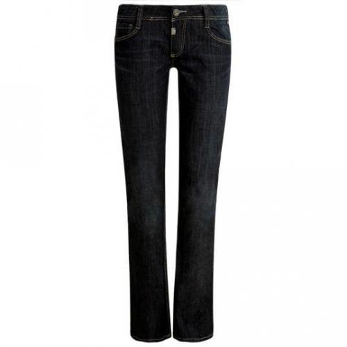 Timezone - Boot Cut Modell Lisa crease wash Farbe Dunkelblau