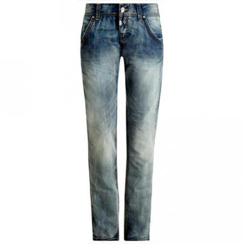 Timezone - Hüftjeans Modell Pepia buffy line wash Farbe Blaue Waschung