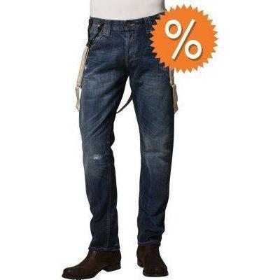 Tom Tailor Denim DARK RELAXED Jeans destroyed dark stone wash