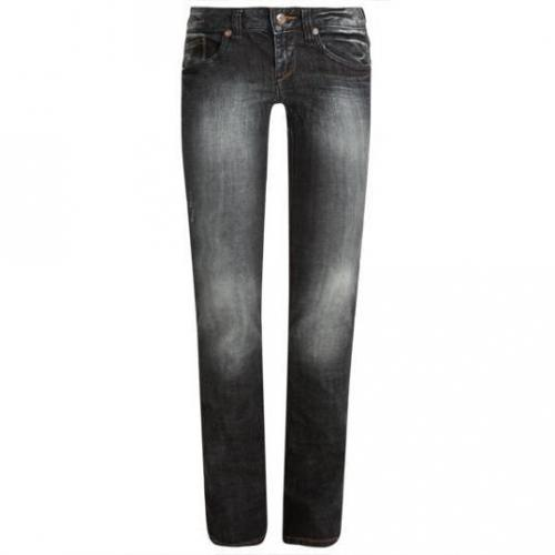 Tom Tailor - Hüftjeans Modell Nos Straight Blue Black Mid-stone wash Farbe Dunkelblau