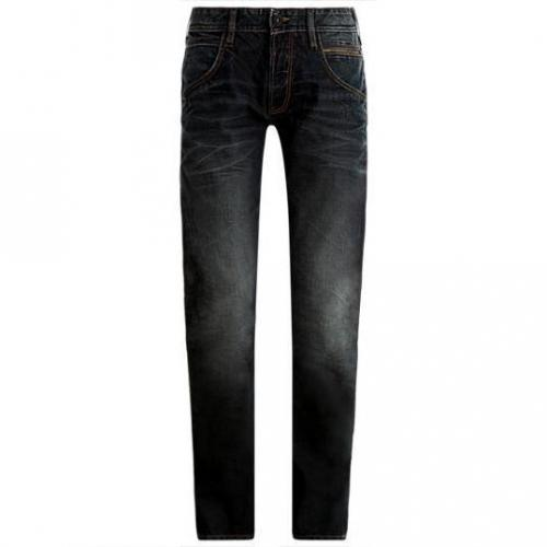 Tom Tailor - Slim Relaxed washed coated Blau