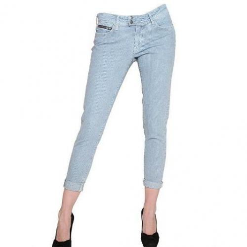 Tommy Hilfiger - Gestreifte Denim Stretch Gekürzte Milan Jeans