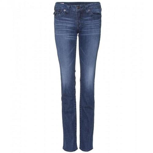 True Religion Billy Straight Leg Jeans Blue Washed