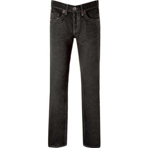 True Religion Black High Noon Cityslicker Logan Jeans