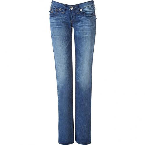 True Religion Blue Washed Midnight Super T Jeans Billy