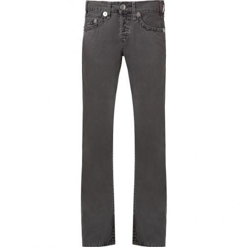 True Religion Charcoal Logan Slim Super T Rustic River Jeans