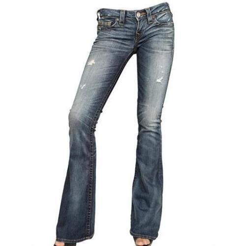 True Religion - Destroyed Stretch Denim Carrie Jeans
