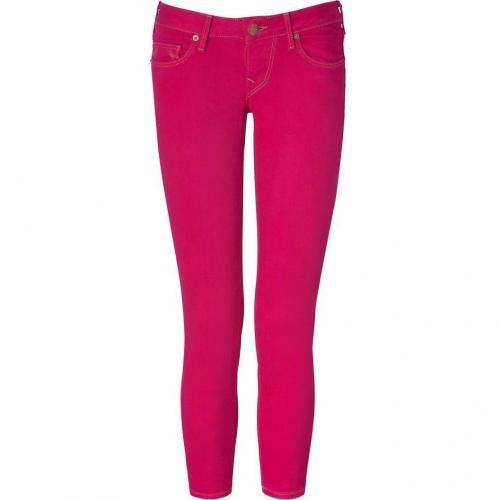 True Religion Fuchsia Skinny Brooklyn Lonestar Capri Jeans