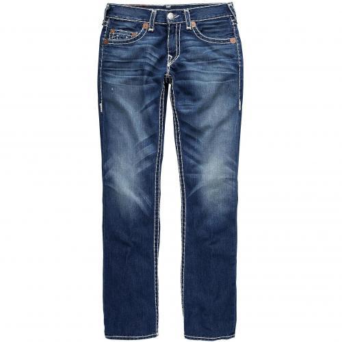 True Religion Herren Jeans Bobby Super T Blue Washed