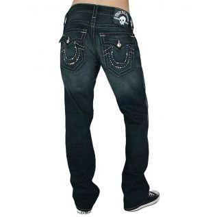 True Religion Herren Jeans Ricky Handstitched