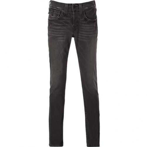 True Religion Medium Faded Black Soft Skinny Jeans