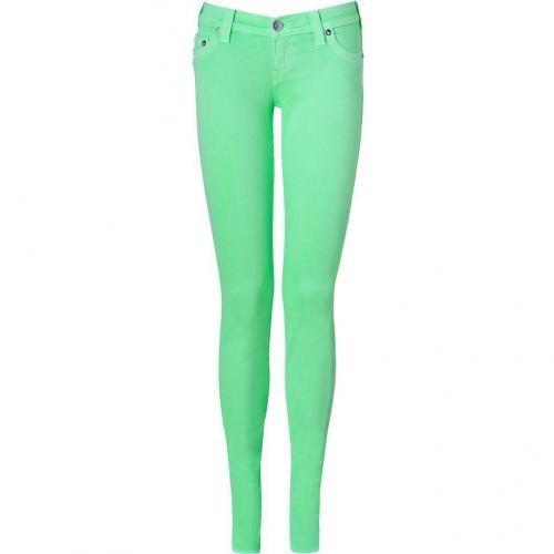 True Religion Neon Green Shannon Skinny Fit Jeans