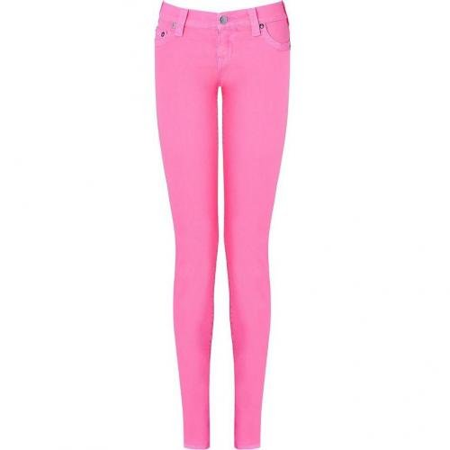 True Religion Neon Pink Shannon Skinny Fit Jeans