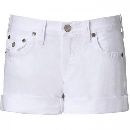 True Religion Optic White Jade Super T Boyfriend Short