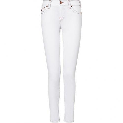 True Religion Optic White Serena Skinny Jeans